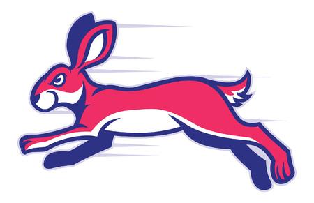 running rabbit mascot Illustration