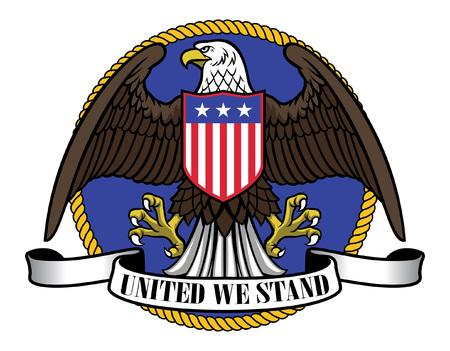 mascotte d'aigle dans le concept des états-unis Vecteurs
