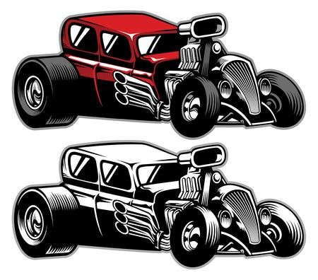 classic old hot rod car Фото со стока - 121631981
