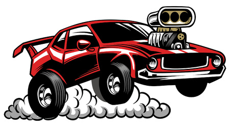 hot rod car Illustration