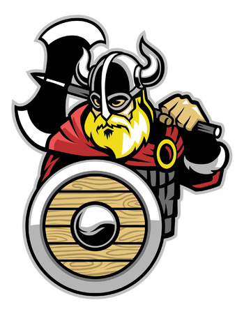 mascot of viking warrior
