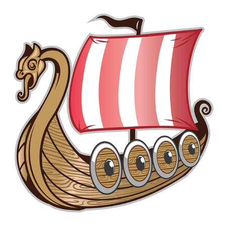 traditionelles Wikingerschiff