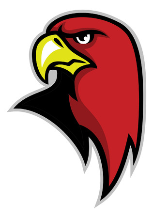 red hawk head mascot