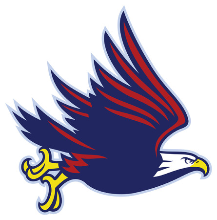 flying bald eagle mascot Ilustrace