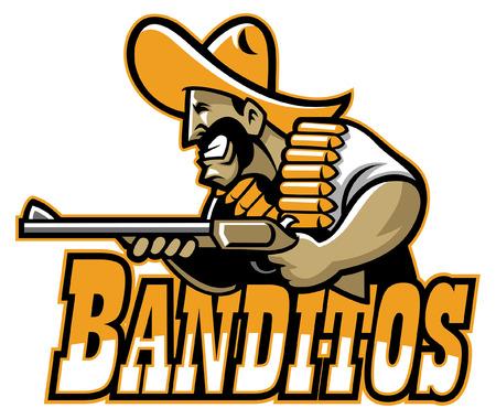 mascot mexican banditos Ilustração