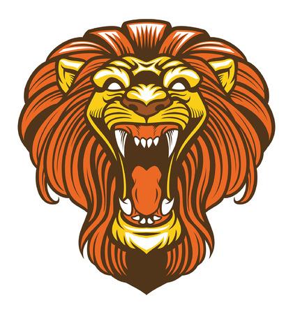 head of roaring lion mascot