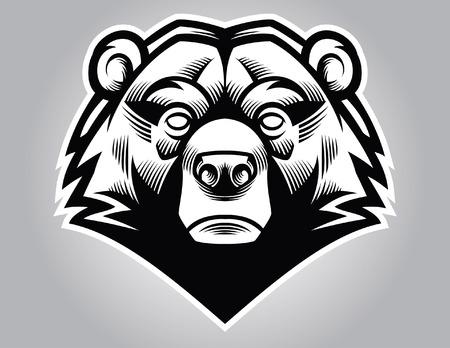 head mascot of bear Illustration