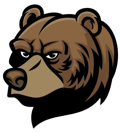 cabeza de oso grizzly