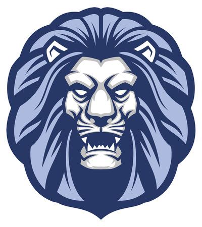 head of lion mascot Illustration