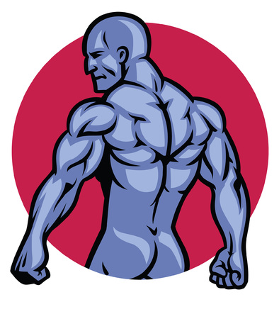 mascot of bodybuilder Illustration