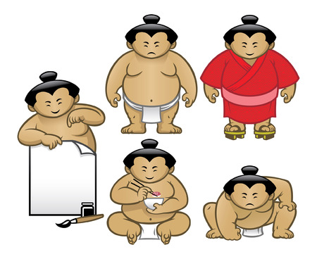 cartoon of sumo character