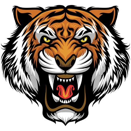 mascota de cabeza de tigre