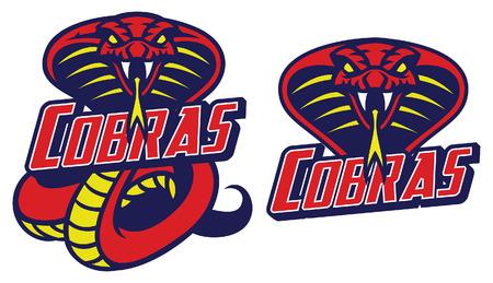 set of cobra snake mascot
