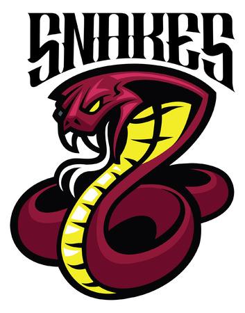 mascotte serpente cobra Vettoriali