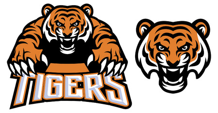 set of tiger mascot