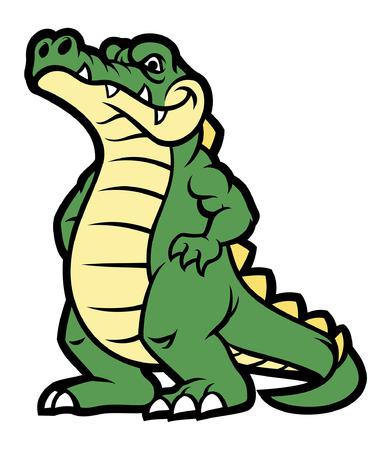 standing crocodile mascot