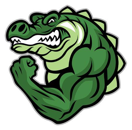 crocodile mascot show his big mascot