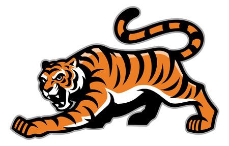 crouching tiger mascot