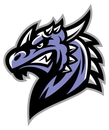 angry head of dragon mascot