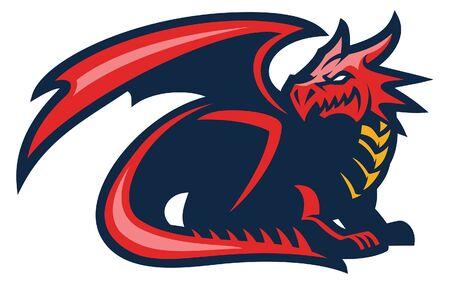 mascot of dragon Illustration