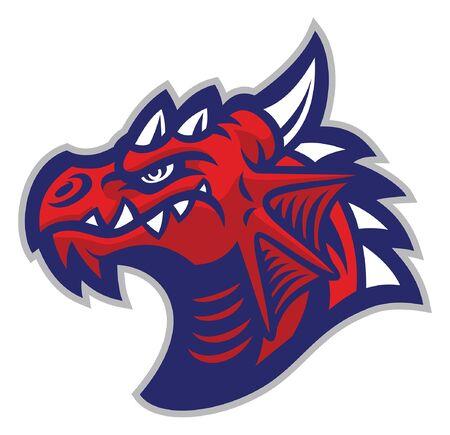 head of dragon mascot