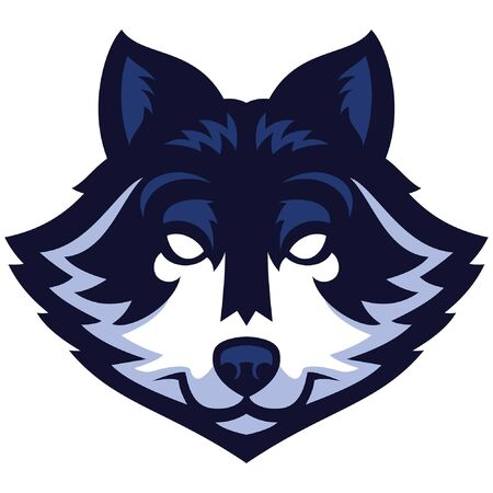 wolf head mascot Ilustrace