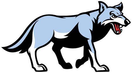wolf mascot in whole body