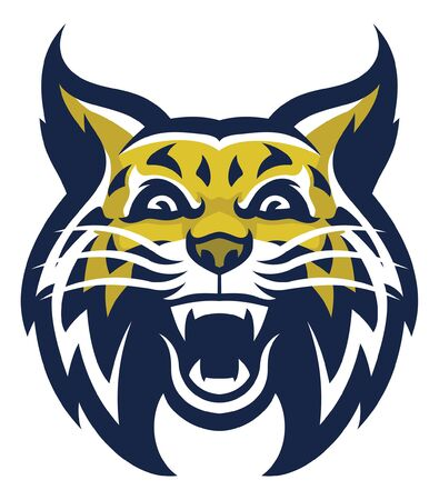 head of wildcat mascot Illustration