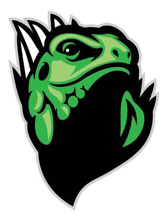 head of iguana lizard mascot