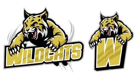 set of wildcat mascot