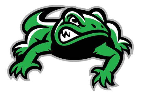 angry gecko mascot