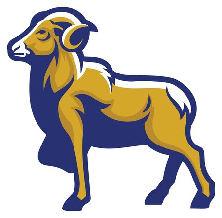 vector mascot of ram