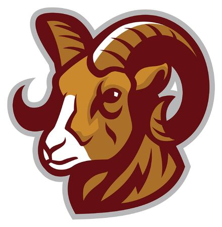 ram head mascot in sport mascot style 向量圖像