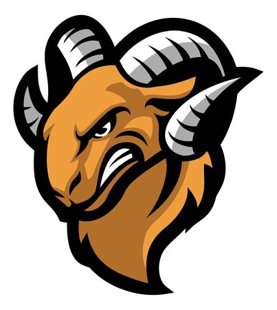 head mascot of ram