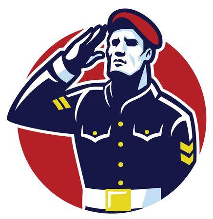 patriot mascot salute