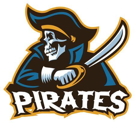 crâne de mascotte de pirate