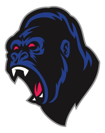 angry of gorilla head mascot