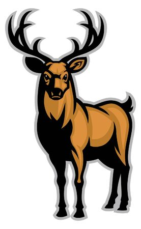 big stag deer mascot 矢量图像