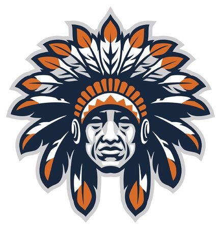 head of indian chief mascot Imagens - 128381848