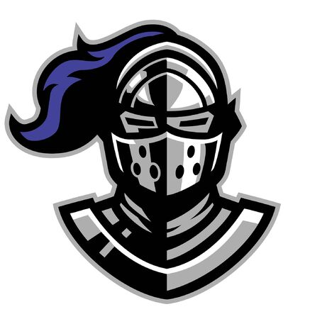 head of knight mascot Çizim