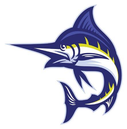 marlin fish mascot