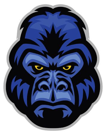 head of gorilla mascot