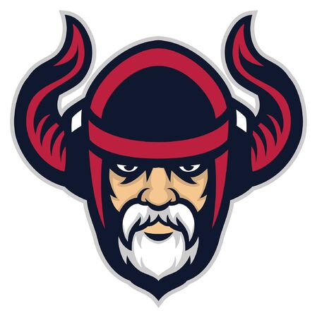 head mascot of viking