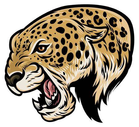 hand drawn of leopard head