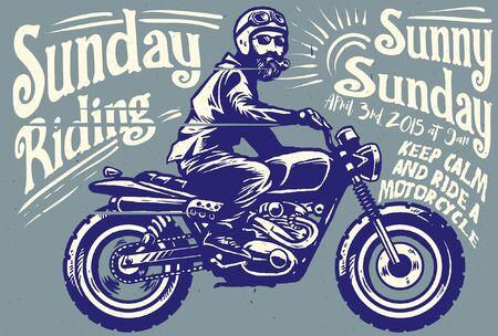 vintage motorcycle poster design