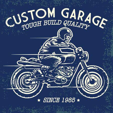 old vintage t shirt motorcycle design