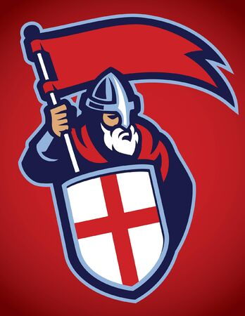 mascot of crusader knight