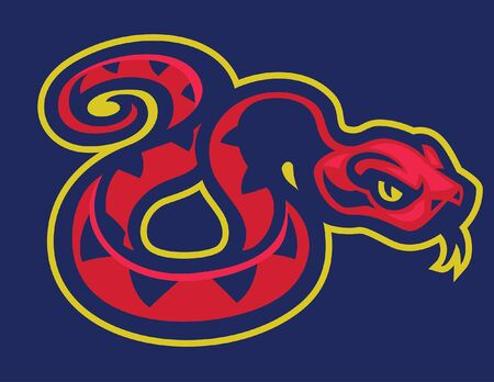 mascot of red snake