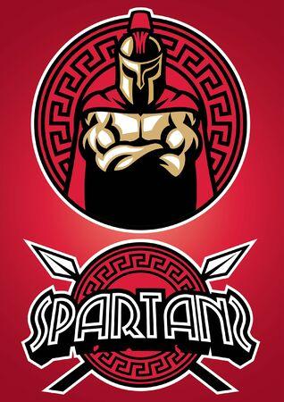 set of spartan mascot
