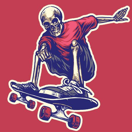 jumping of skull while playing skateboard